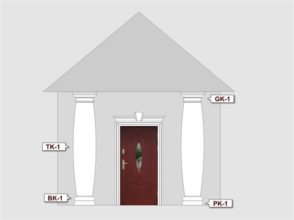 Komplettes Fassadenelement Nr.1