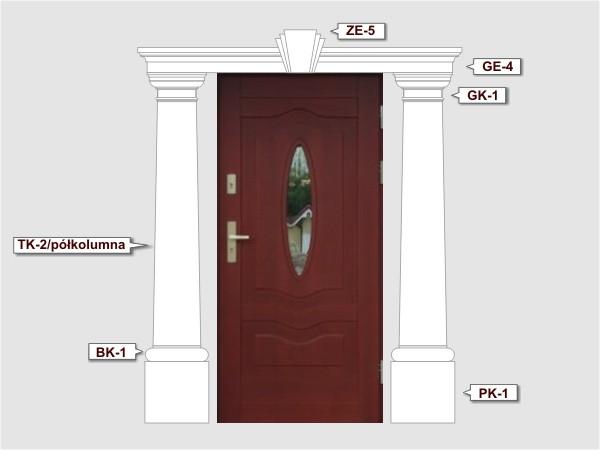 Komplettes Fassadenelement Nr.4
