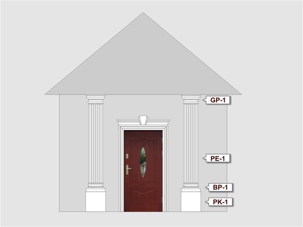 Komplettes Fassadenelemnt Nr.6